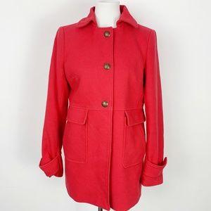 Banana Republic Women's Medium Light Red Pea Coat